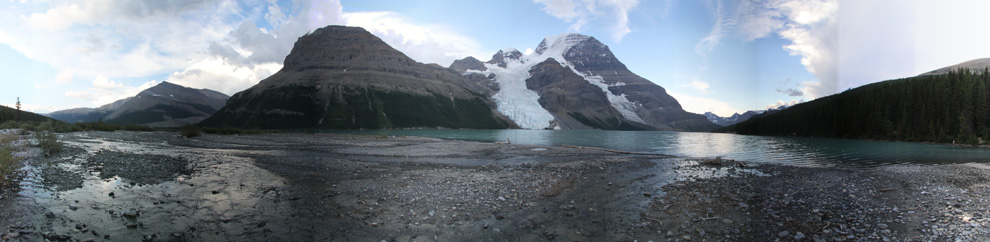 Berg Lake below Mount Robson